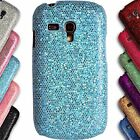 Chrome Sparkle Case for Samsung Galaxy S3 Mini i8190 Glitter Bling Back Cover