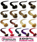 "20"" Pre Bonded 100% Remy Human Hair Extensions, Nail Tip U Shape 6A QUALITY"