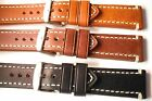 Darlena ''Rustic, Vintage'' leather watch strap. 3 colours, 20, 22, 24 and 26mm.
