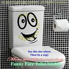 Smiley Face Toilet Wall Sticker Decal Mural Art Decor Funny Bathroom Gift Car 3t