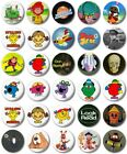 "Kids Retro TV Various 25mm, 1"" Button Badge, I to M,Little Miss,Magic Roundabout"
