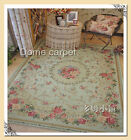 French Victorian Traditional Classic Country Floral Green Floor Rug Area Carpet