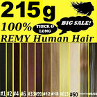 "22"" Thick Deluxe Comfort Clip in Remy Human Hair Extensions Brown Blonde Black"