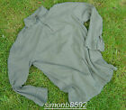 GERMAN ARMY SURPLUS ISSUE GREEN ZIP NECK 100% COTTON T-SHIRT LONG SLEEVE NORGIE
