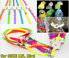 Adjustable Large/Medium Parrot Bird Harness Leash Multicolor Light Soft Fashion