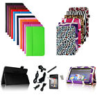 """22 Colors Leather Smart Case Cover for Kindle Fire 7""""+ Protector/Stylus/Charger"""
