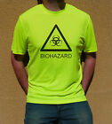 Neon Yellow Cyber Goth Punk Rave Clubbing Cool-T T-Shirt - Biohazard