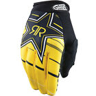 NEW ANSWER RACING ROCKSTAR ENERGY MENS ADULT RIDING GLOVE YELLOW BLACK ALL SIZES