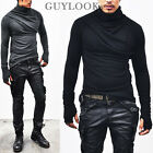Avant-garde Bandage Look Mens Shirring Armwarmer Turtle Wool Knit Tee By Guylook