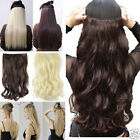 """one weft 17"""" 24"""" 23"""" 26"""" 27"""" 3/4 full head clip in hair extensions real quality"""