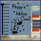 Minnie Mouse Height Chart Personalised Kids Children Name Vinyl Wall Stickers hc
