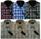 Mens Short Sleeve Yarn Dyed 100%Cotton Check Shirt M - XXL By Tom Hagan