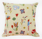 AL224a Colorful Child Drawing Bird Cotton Canvas Cushion Cover/ Case*Custom Size