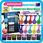 "NURSE POUCH+colour face FOB WATCH""extra pocket""ORGANIZER WALLET PICK BAG+Keyring"
