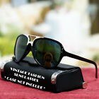 Vintage Fashion Aviator Sunglasses Trend Style Green UV 400 Lens Shades New Mens