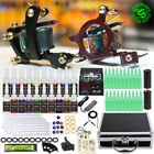 Tattoo Kit 2 Machine Guns 20 color ink Needle Power Supply Set Equipment HW-8HD