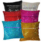 Gc 6x9mm Starlight Sequin (Pick 1 color of 6) Velvet Cushion Cover/Pillow Case