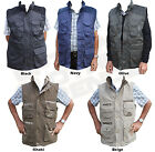 Mens Body Warmer Waistcoat Safari Gillet Jacket Shooting Fishing Hunting Hiking