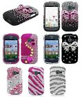 For Samsung Centura Discover 3D Diamond Bling Hard Case Net 10 Straight Talk