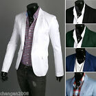 2013 New !!Stylish Men's Casual Slim fit One Button Suit Blazer Coat Jackets