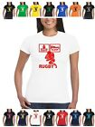 Ladies Eat Sleep Rugby T Shirt pic with ball shirt kit shorts pads boots and all