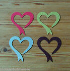 Wedding Toppers - Heart Ribbon - Favour - DIY Invitations - Place Cards