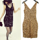 C0062#Women Shiny Sequins Tunic Dress Gossip Girl Gown Party Sleeveless Dress