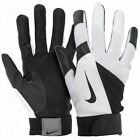 NEW Youth S M NIKE Diamond Elite Show Baseball Batting Gloves Black White BOYS