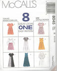 McCall's 8045 Misses' Dress in Two Lengths   Sewing Pattern