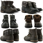NEW BOYS GIRLS KIDS COMFY LACE UP FLAT ANKLE BOOTS AUTUMN WINTER WARM SHOES