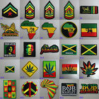 Rasta Iron On / Sew On Cloth Patch Badge Appliqué Hot Fix Jah Reggae Dub Jamaica