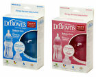 Dr Browns Natural Flow 8oz/240ml Pink/Blue Wide Neck Baby Bottle (TWIN PACK)