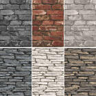 FINE DÉCOR DISTINCTION RANGE BRICK AND SLATE WALL DESIGN WALLPAPER