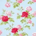 WHITEWELL INTERIORS FLORAL BOUQUET TRAIL RANGE BLUE OR PINK WALLPAPER