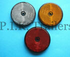 **FREE P+P** Round Reflectors for Driveway Posts, Garden Walls, Trailers etc
