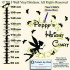 Tinkerbell Height Chart Personalised Kids Children Name Vinyl Wall Stickers cm
