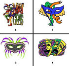 Templates subsilver images - Mardi Gras Nail Decals Set of 20 - Choose from 4 designs