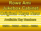 ROWE AMI JUKEBOX ORIGINAL CABINET KEYS - C256A CO33A C092A CO94A NEW OLD STOCK