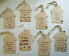 SHABBY CHIC WOODEN HOUSES WITH EAST OF INDIA RIBBON FRIEND CHRISTMAS GIFT