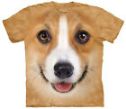 Corgi Dog Face Adult  Animals Unisex T Shirt The Mountain
