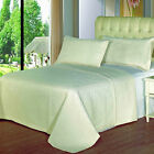 3pc Quilted Coverlet Set Microfiber Checkered & Wrinkle Free with Shams 5 Colors