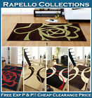 SMALL MEDIUM LARGE MODERN CARVED CONTEMPORARY DESIGN BROWN GREEN RED BLACK RUGS