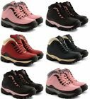 LADIES STEEL TOE CAP TRAINERS GROUNDWORK SAFETY HIKING LEATHER BOOTS SIZE 3-8
