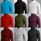 k mens thermal cotton polo neck turtleneck sweater shirts jumper S M L XL 2XL