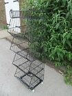 BLACK or WHITE 5 TIER BASKETS METAL RETAIL SHOP HOME SHELVING DISPLAY ON WHEELS