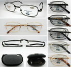L492 Quality Foldable Metal Reading Glasses With Shell Case/+200+225+250+275+300