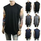 Men HEAVY WEIGHT Crew Neck Muscle T SHIRT Tank Top Sleeveless Sport Active GYM   image