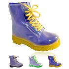 WOMENS LADIES JELLY TRANSPARENT WELLIES WELLINGTON BOOTS SHOES SIZE UK 4 5 6 7 8