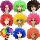 WWU 1pcs Colorful Short Afro Curly Hair Costumes Circus Clown Wigs Bob J8225