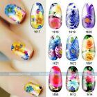 Nail Decals Full WRAPS Flower Rose Water Transfer Stickers Nail DIY Decorations